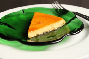 Coconut citrus flan
