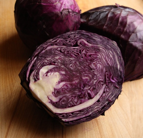 Minimized red cabbage