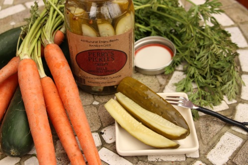 minimized crispy dill pickles