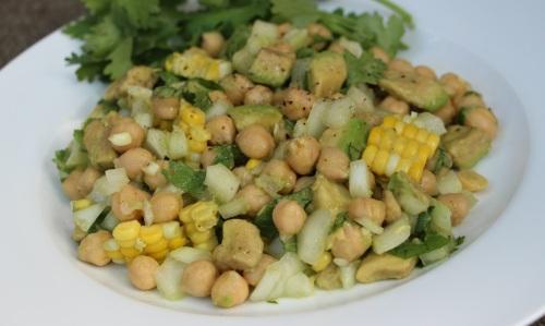 Minimized chickpea salad