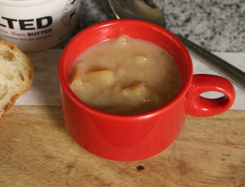 Minimized apple soup